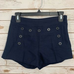 NWT Forever 21 Navy Anchor Button Shorts 26